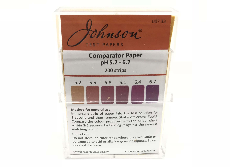Comparator Paper pH 5.2 - 6.7
