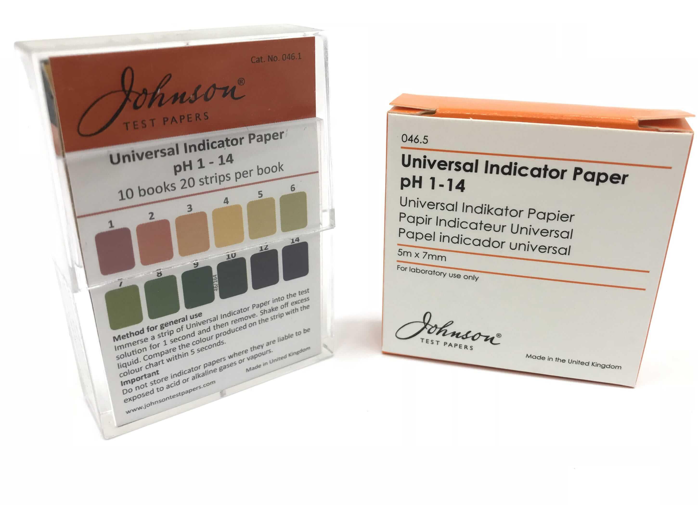 Universal Indicator Paper pH 1 - 14 | Johnson Test Papers